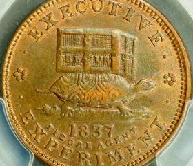 1837 Hard Times Token HT-33 Copper Illustrious Predecessor PCGS MS63BN